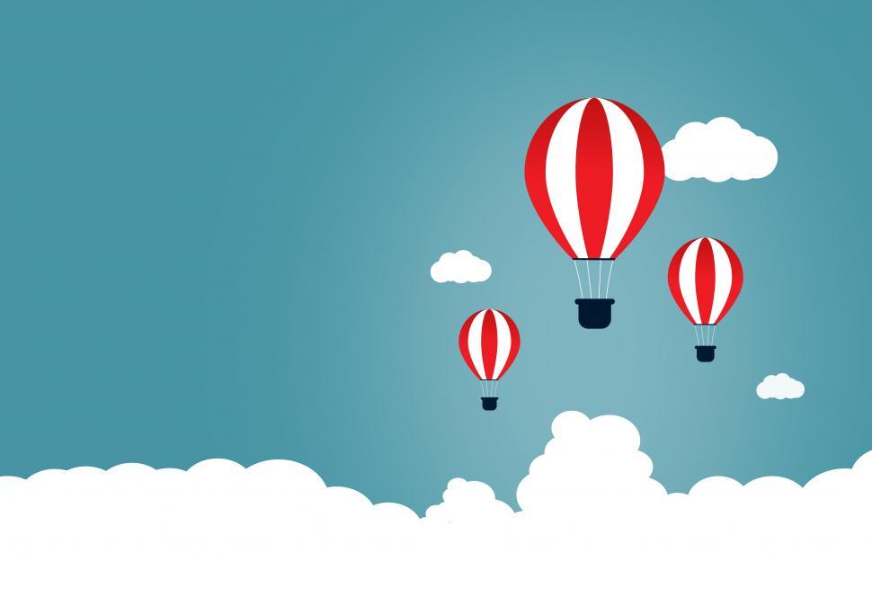 Download Free Stock HD Photo of Creative Start and Start-Up Concept with Hot Air Balloons - Copy Online