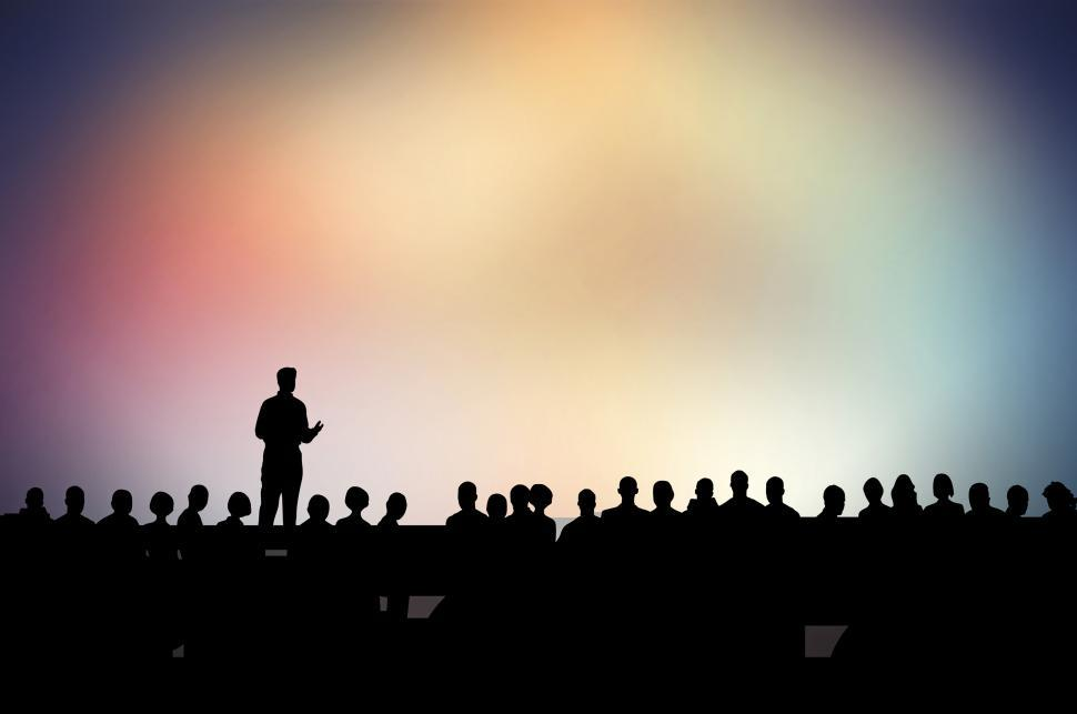 Download Free Stock HD Photo of Speaker and Speech - Speaking in Public - Presentation - Confere Online