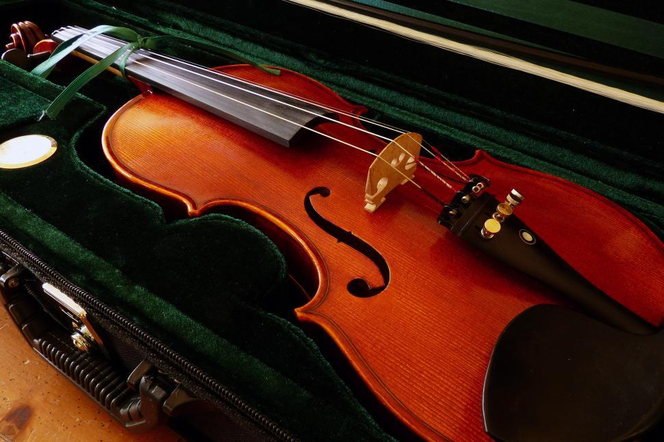 Download Free Stock HD Photo of Violin In Case Online