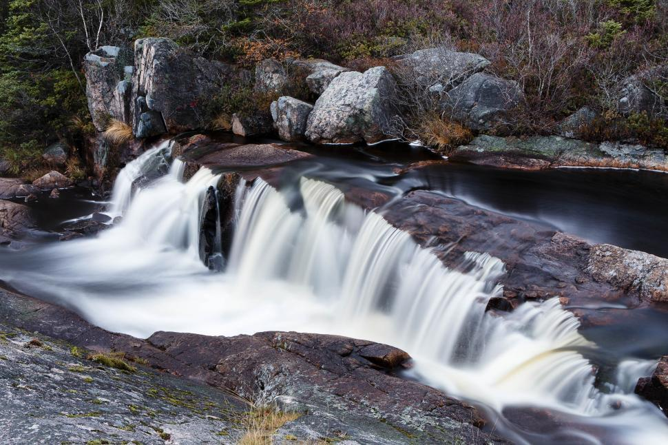 Download Free Stock HD Photo of Small waterfall  Online