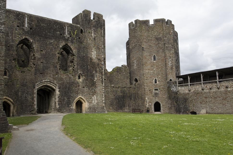 Download Free Stock HD Photo of Caerphilly castle grounds Online
