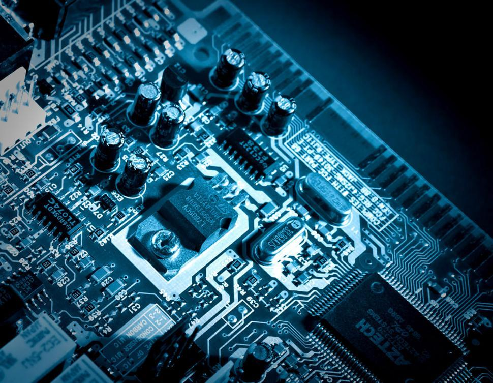 Free image of A Printed Circuit Board in Blue