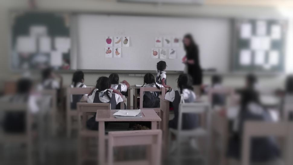Download Free Stock HD Photo of Primary School Classroom with Kids Online