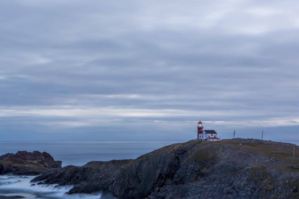 Download Free Stock HD Photo of Coastline with lighthouse Online