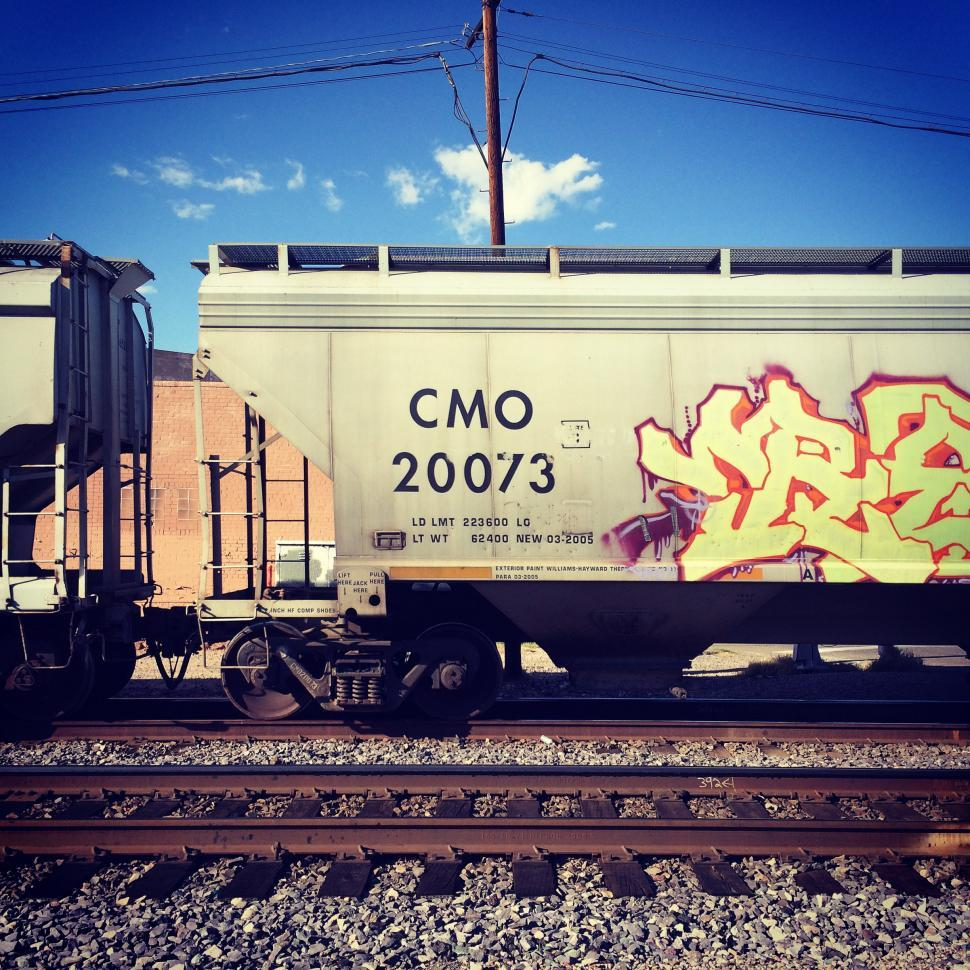 Download Free Stock HD Photo of Painted train car Online