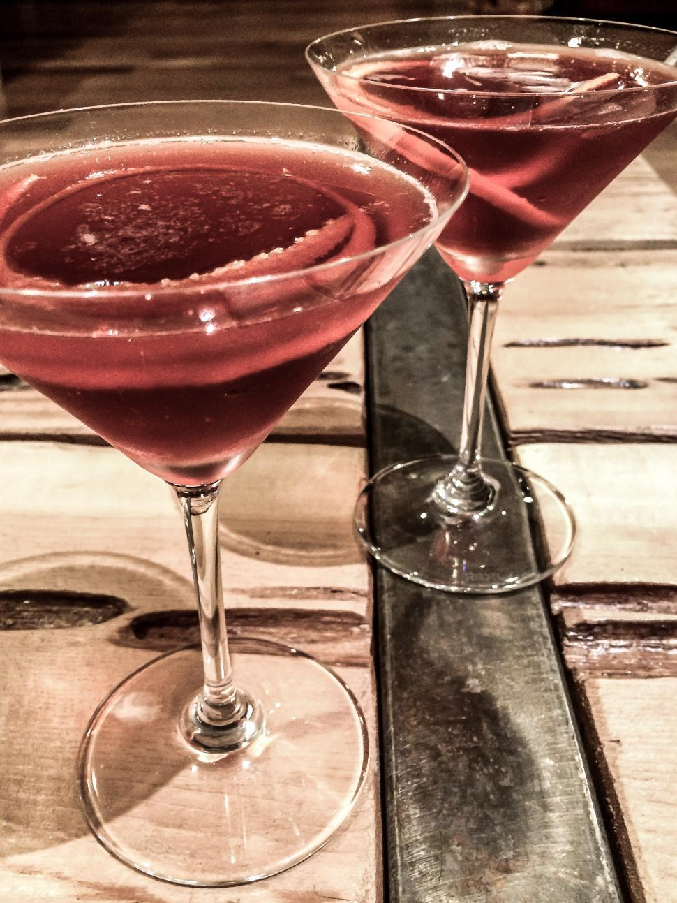 Download Free Stock HD Photo of Cocktails on the wooden table Online