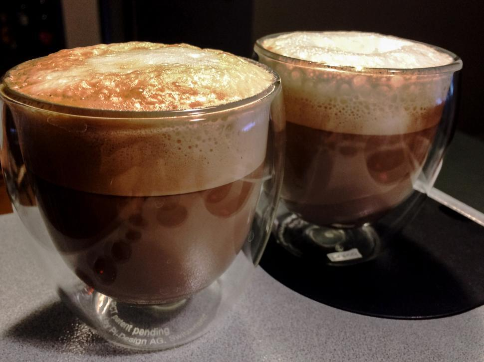 Download Free Stock HD Photo of Two cappuccinos Online