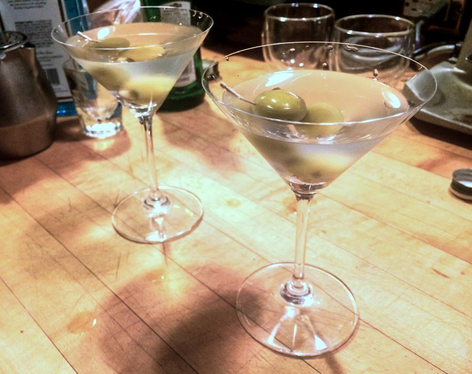 Download Free Stock HD Photo of Two Martinis Online