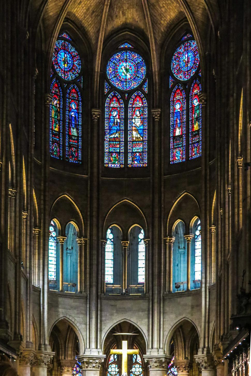 Download Free Stock HD Photo of Interior of Notre Dame cathedral Online
