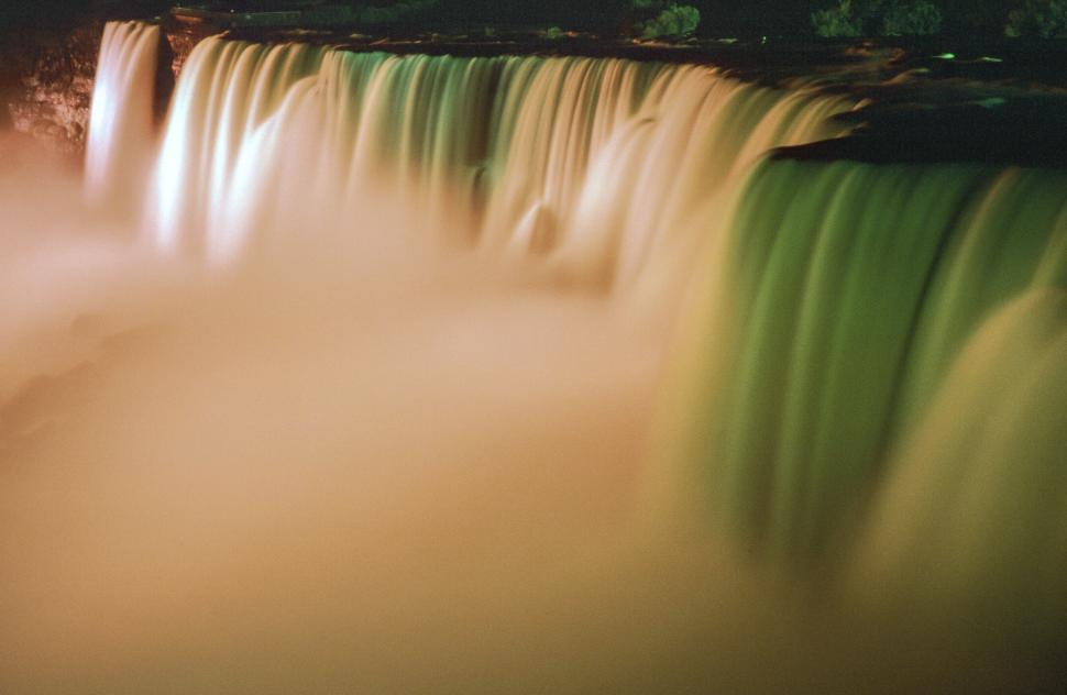 Download Free Stock HD Photo of Niagara Falls in colored lights Online