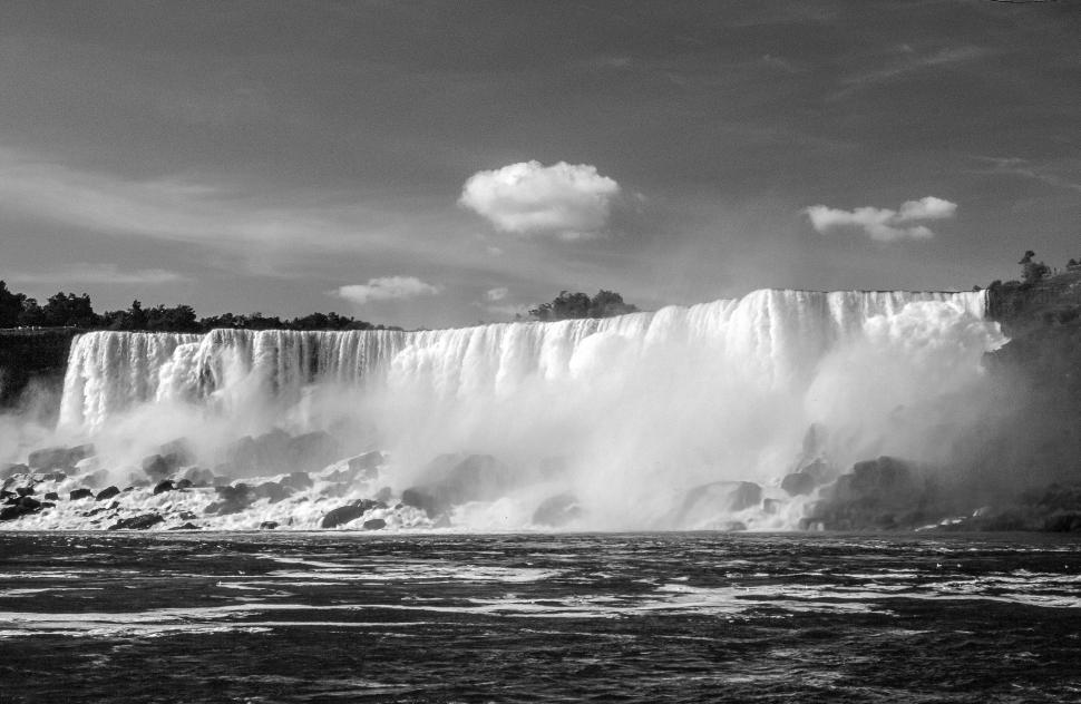 Download Free Stock HD Photo of American Falls Black and White Online
