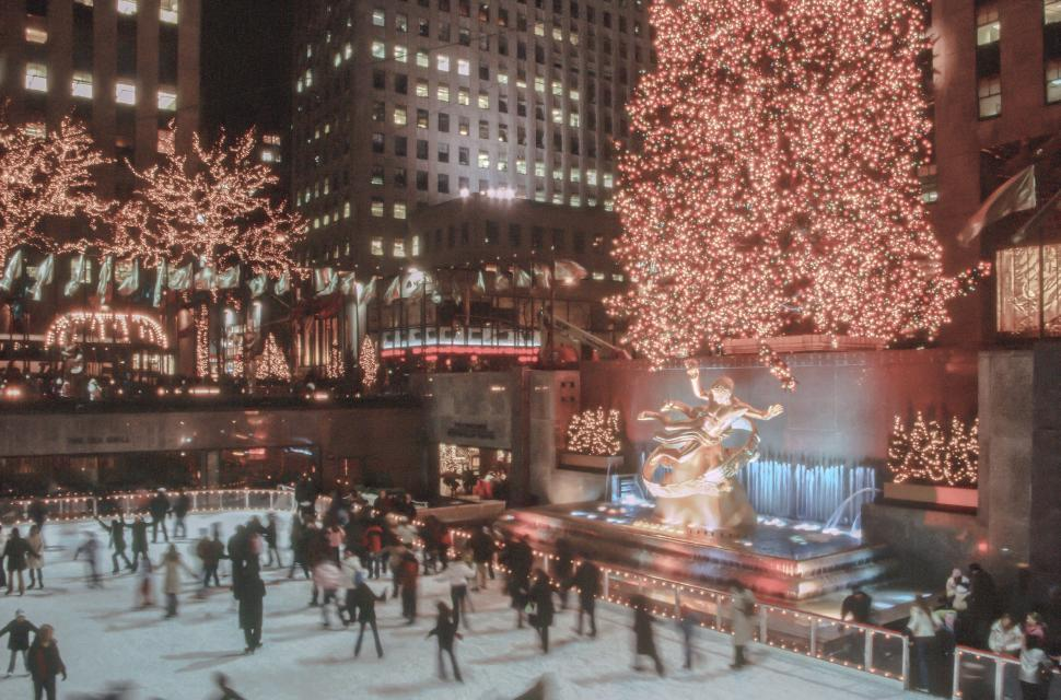 Download Free Stock HD Photo of The Rink At Rockefeller Center Online