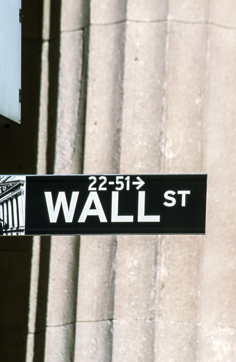 Download Free Stock HD Photo of Wall Street Sign Online