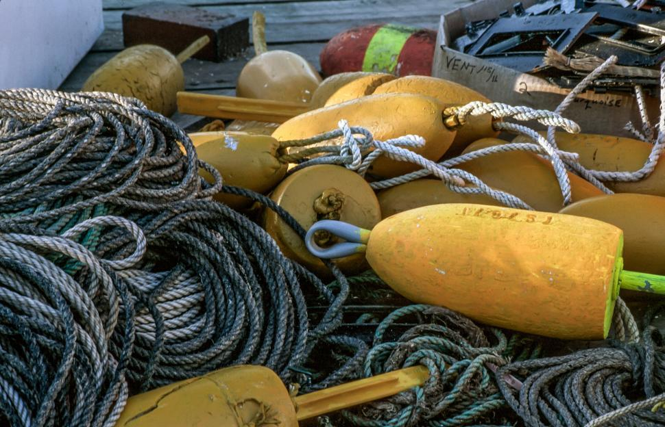 Download Free Stock HD Photo of Lobster buoys Online