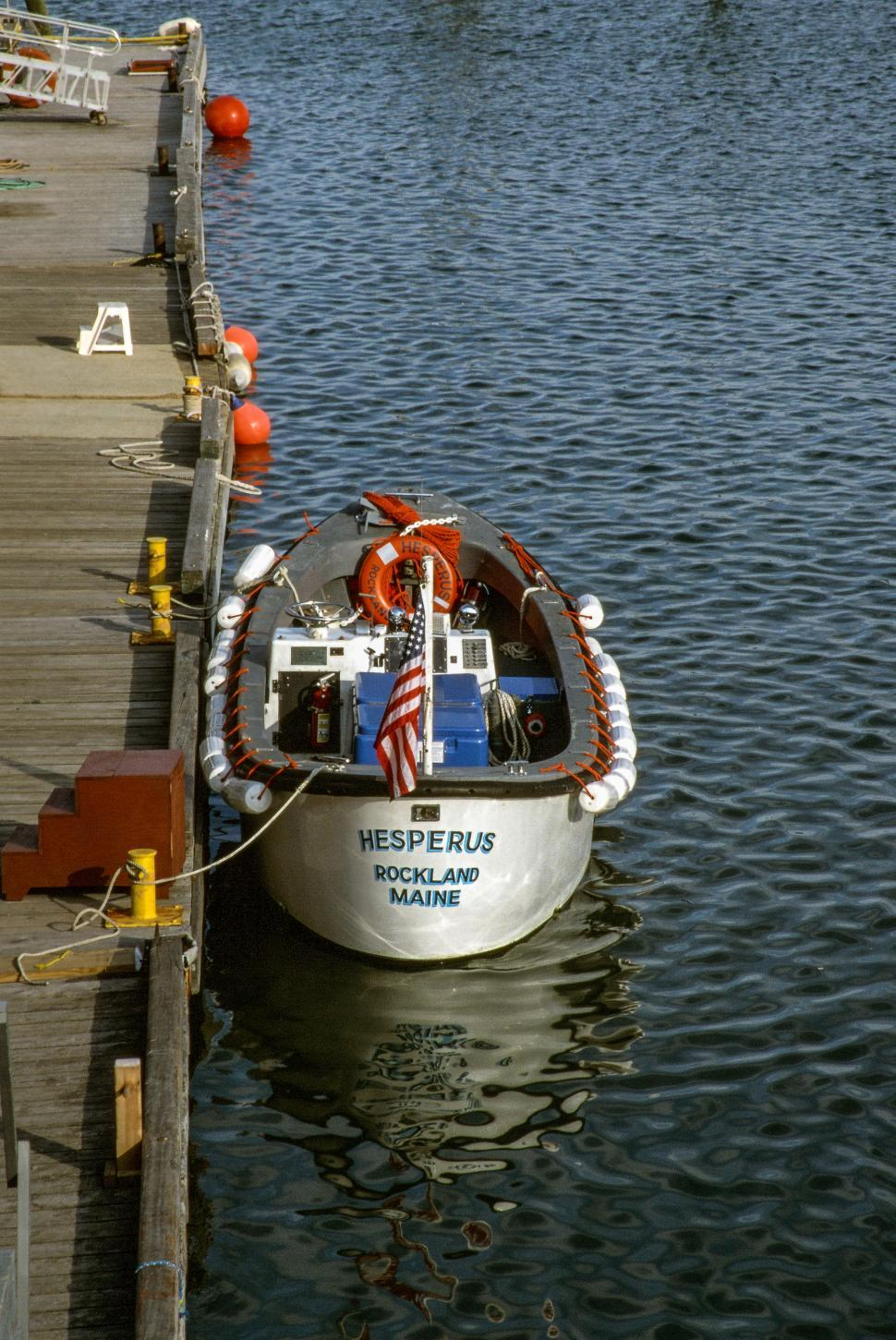 Download Free Stock HD Photo of Boat Tied To Dock Online