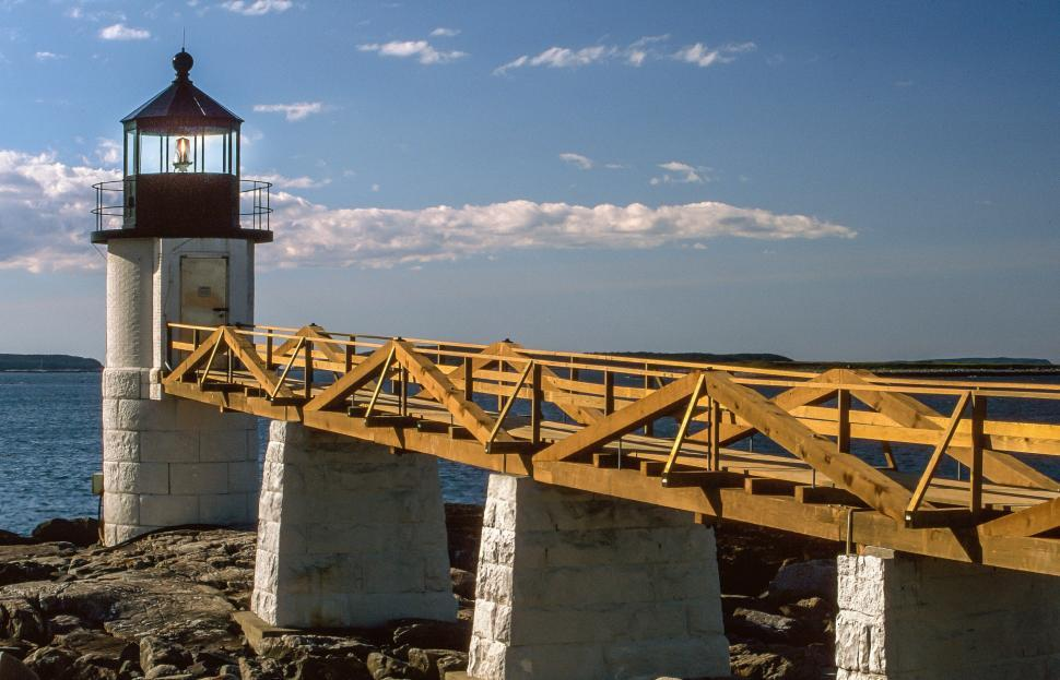 Download Free Stock HD Photo of Marshall Point Light Station Online