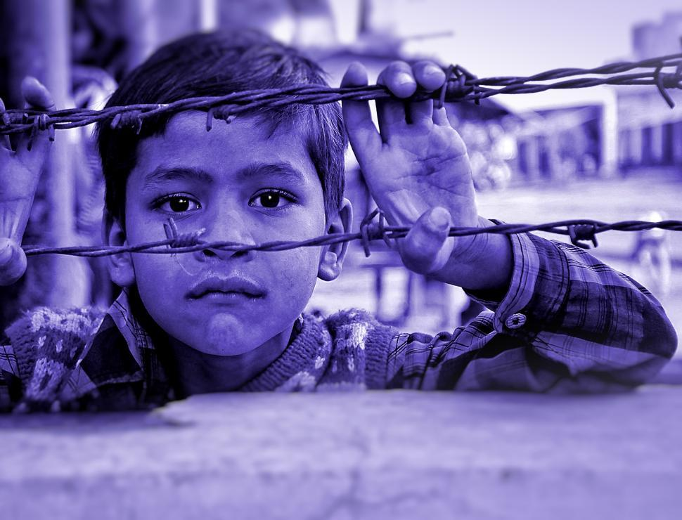 Download Free Stock HD Photo of Child and Barbed Wire Online