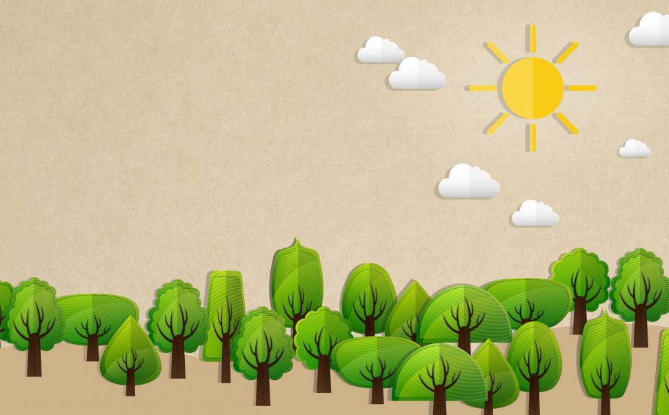 Download Free Stock HD Photo of Ecology Concept with Trees - With Copyspace Online