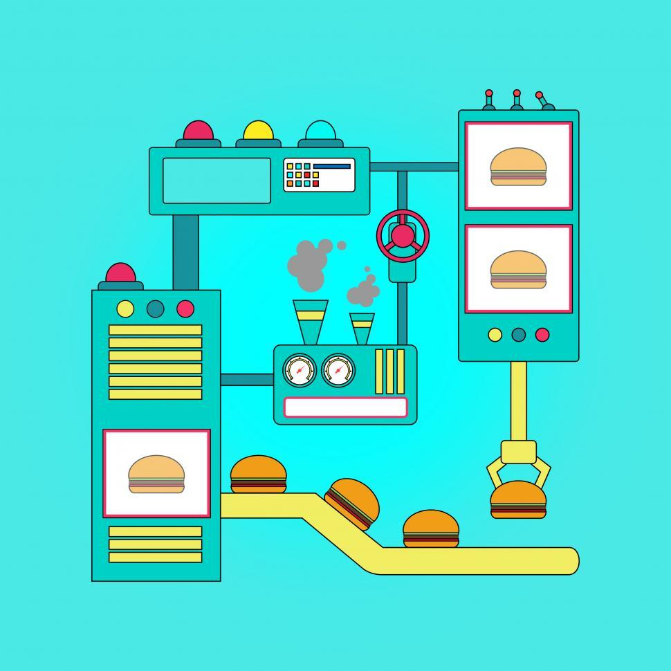 Download Free Stock HD Photo of Fast Food - Food Processors Concept Online