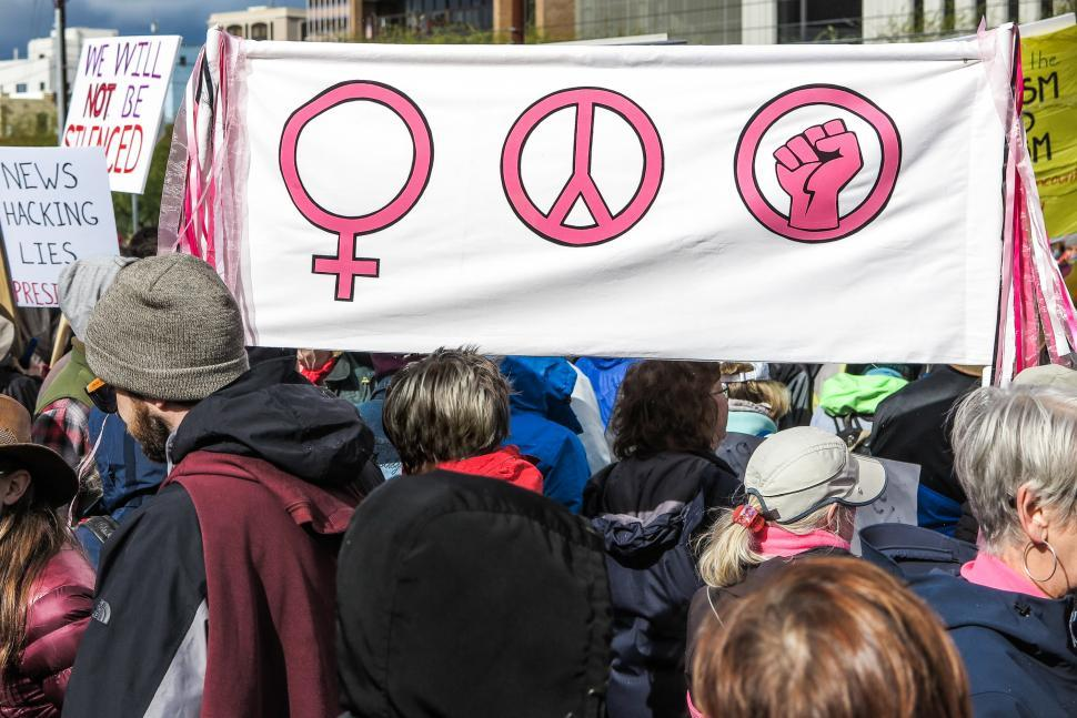 Download Free Stock HD Photo of Women s rights sign Online