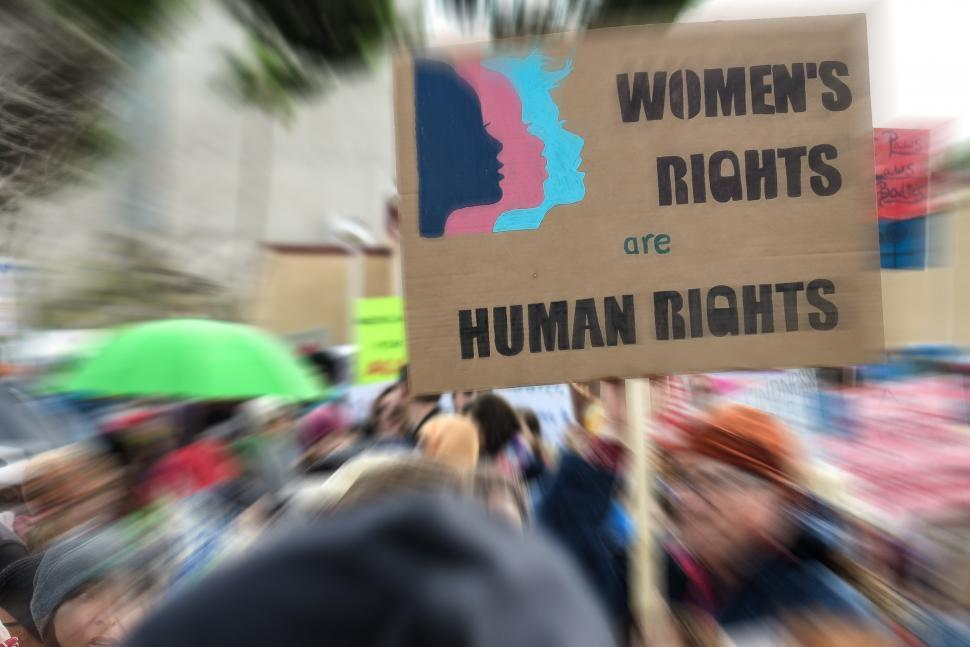 Download Free Stock HD Photo of Women s rights are Human Rights Online