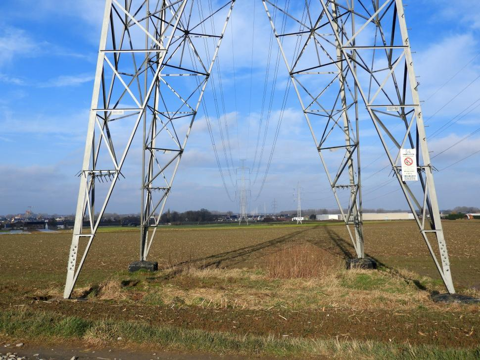 Download Free Stock HD Photo of Overhead power lines  Online