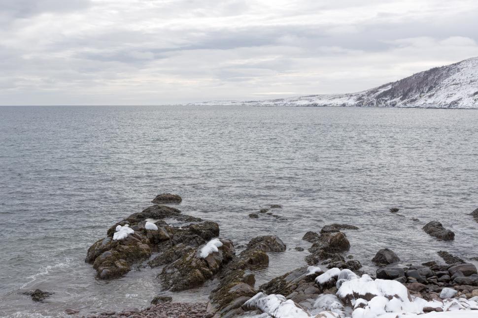 Download Free Stock HD Photo of Atlantic ocean in winter Online