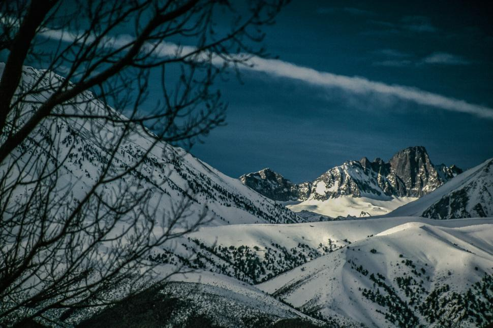 Download Free Stock HD Photo of Snowy Sierra Nevada mountains Online