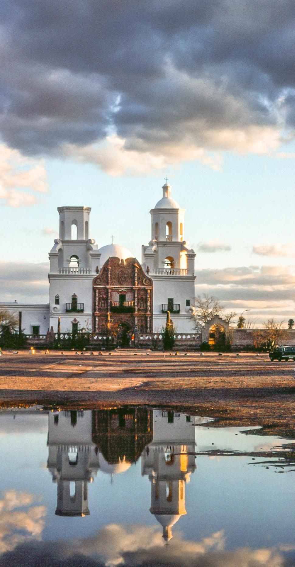 Download Free Stock HD Photo of View of Mission San Xavier del Bac at Tucson Online
