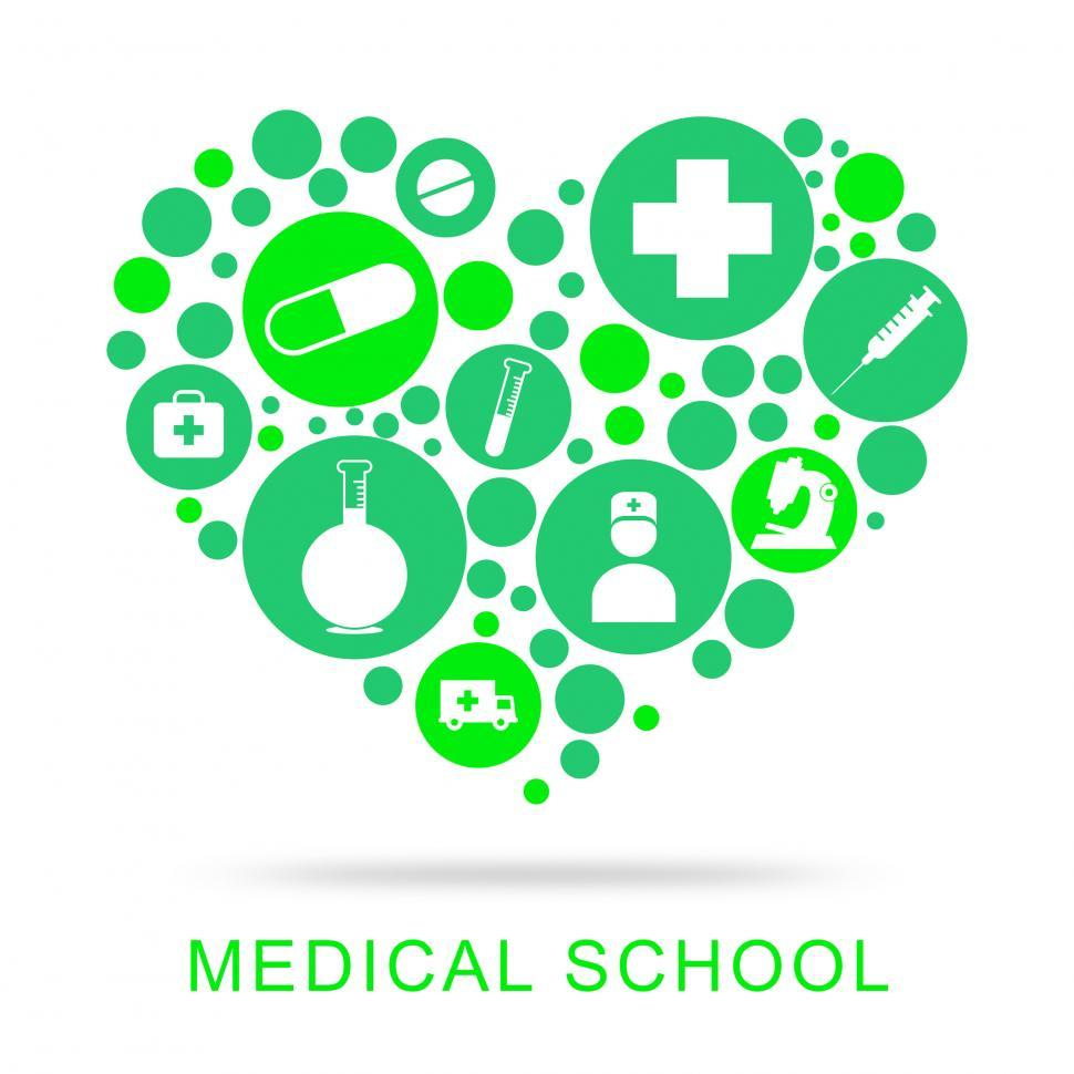 Download Free Stock HD Photo of Medical School Represents University Learning And Education Online