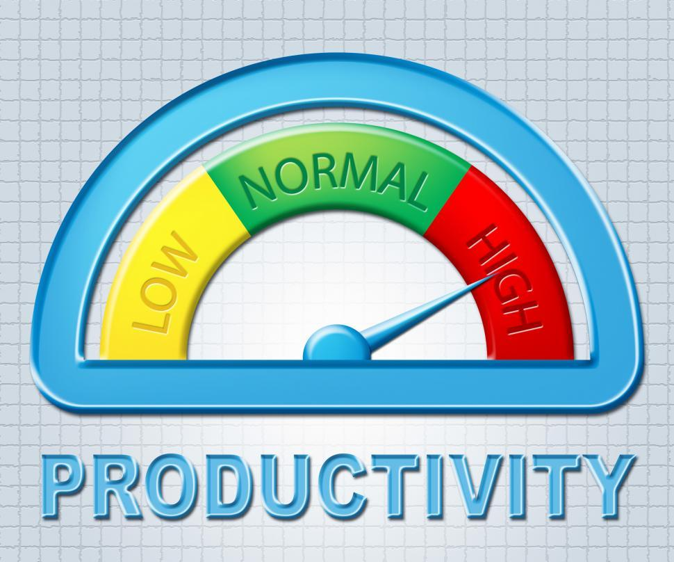Download Free Stock HD Photo of High Productivity Means Gauge Excessive And Productive Online