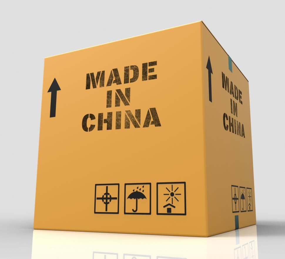 Download Free Stock HD Photo of Made In China Indicates Goods And 3d Rendering Online