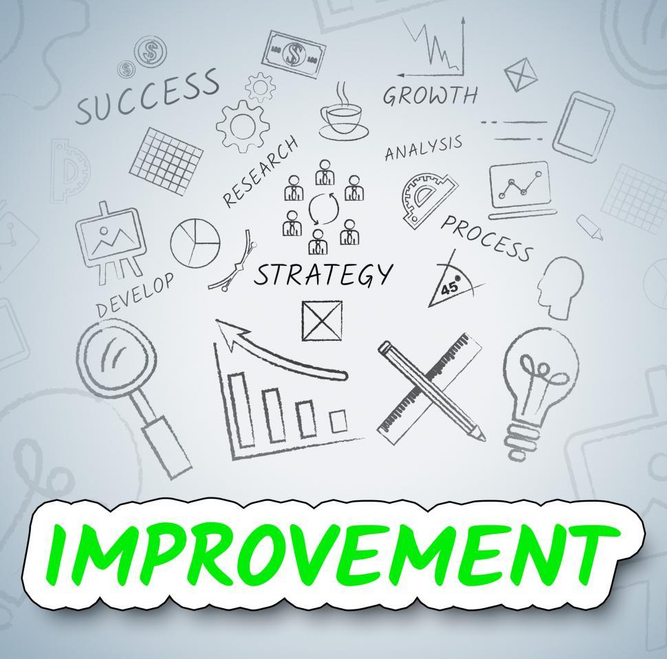 Download Free Stock HD Photo of Improvement Ideas Shows Consider Reflection And Upgrading Online