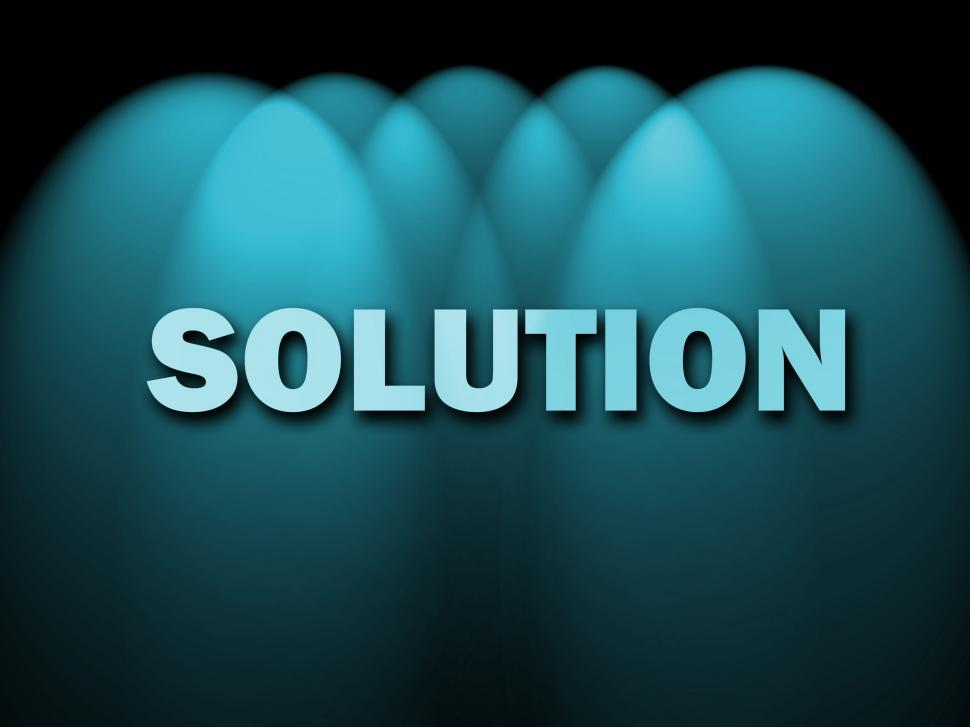 Download Free Stock HD Photo of Solution Words Shows Achievement Resolution Solving And Solved Online