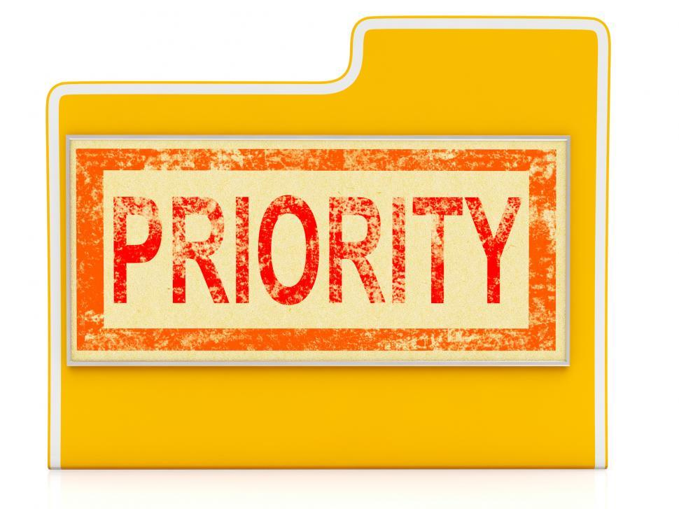Download Free Stock HD Photo of Priority File Shows Speedy Rush Immediate Delivery Online