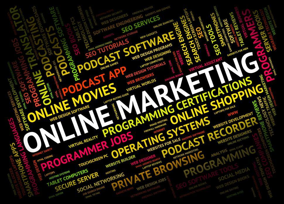 Download Free Stock HD Photo of Online Marketing Shows World Wide Web And Promotion Online