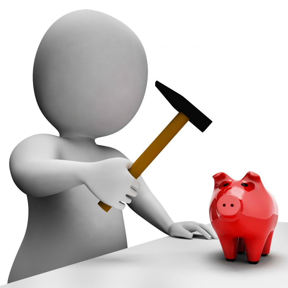 Download Free Stock HD Photo of Savings Money Indicates Piggy Bank And Banking 3d Rendering Online