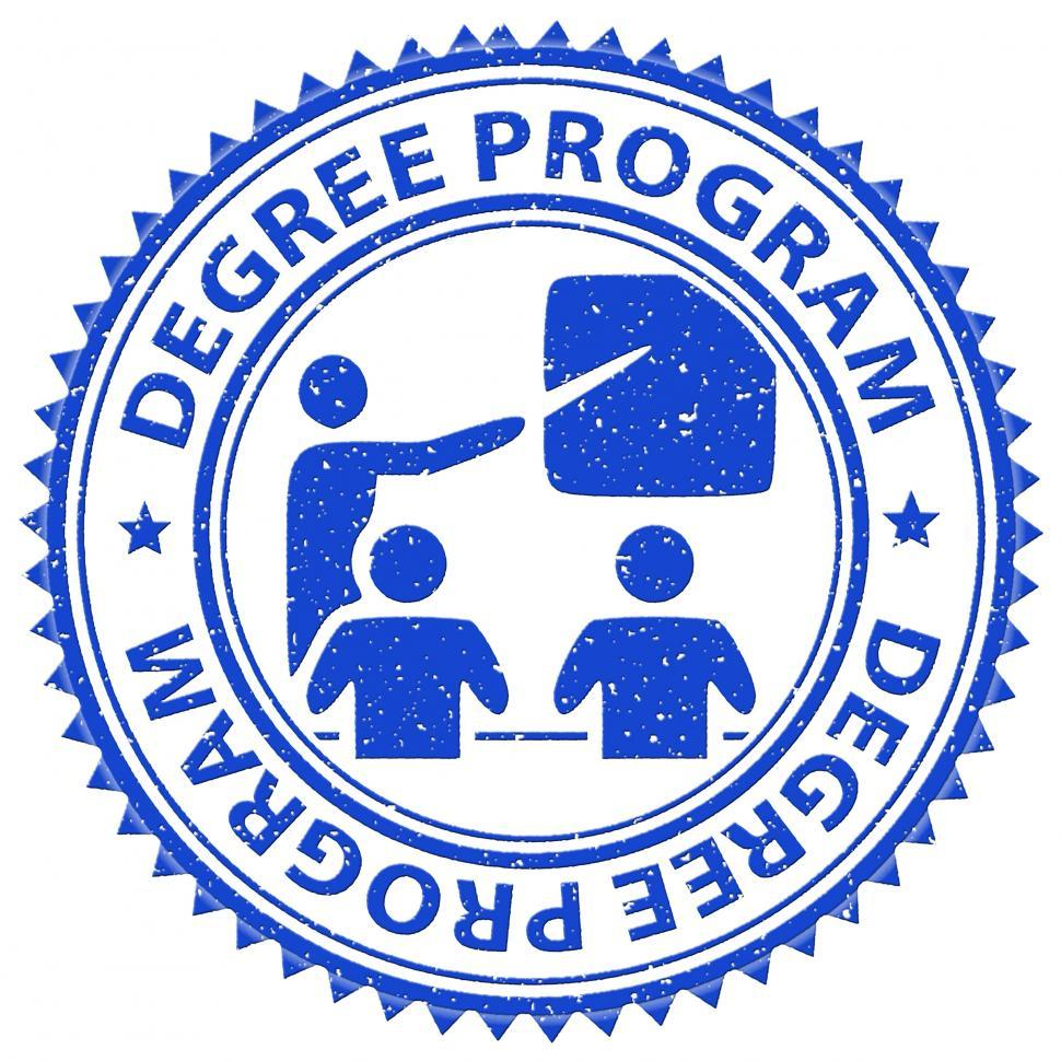 Download Free Stock HD Photo of Degree Program Shows Stamps Educated And Education Online