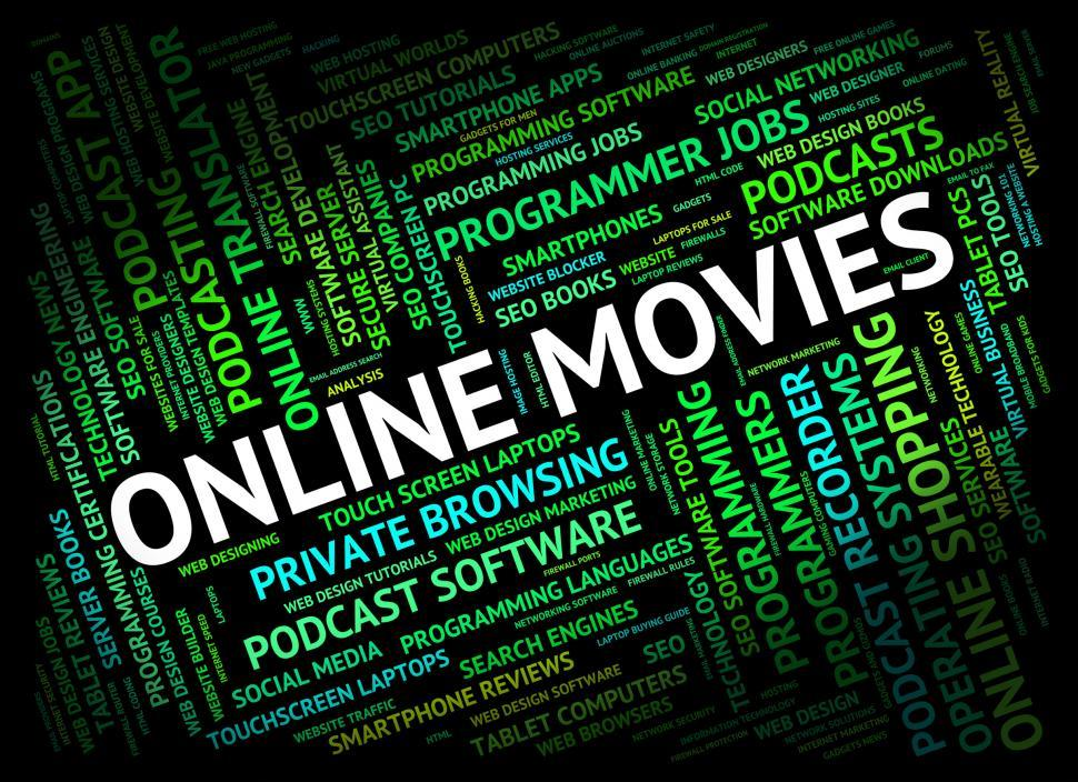 Download Free Stock HD Photo of Online Movies Represents World Wide Web And Cinema Online