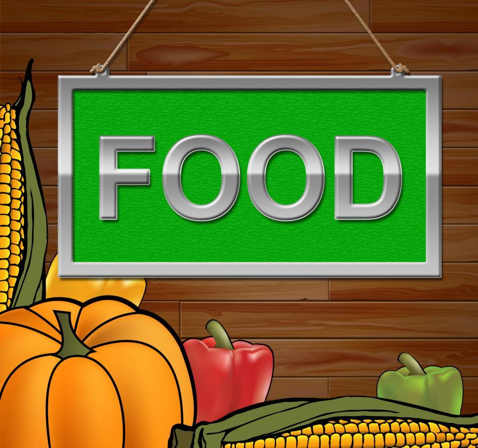 Download Free Stock HD Photo of Food Sign Indicates Restaurant Cuisine 3d Illustration Online