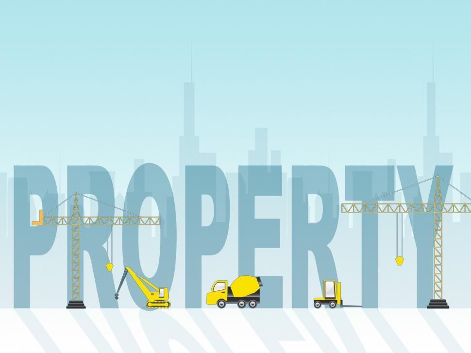 Download Free Stock HD Photo of Property Construction Means Real Estate 3d Illustration Online
