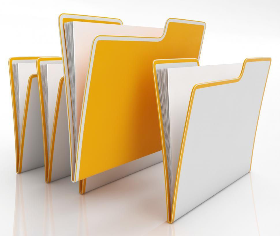 Download Free Stock HD Photo of Files Shows Organising And Paperwork Online