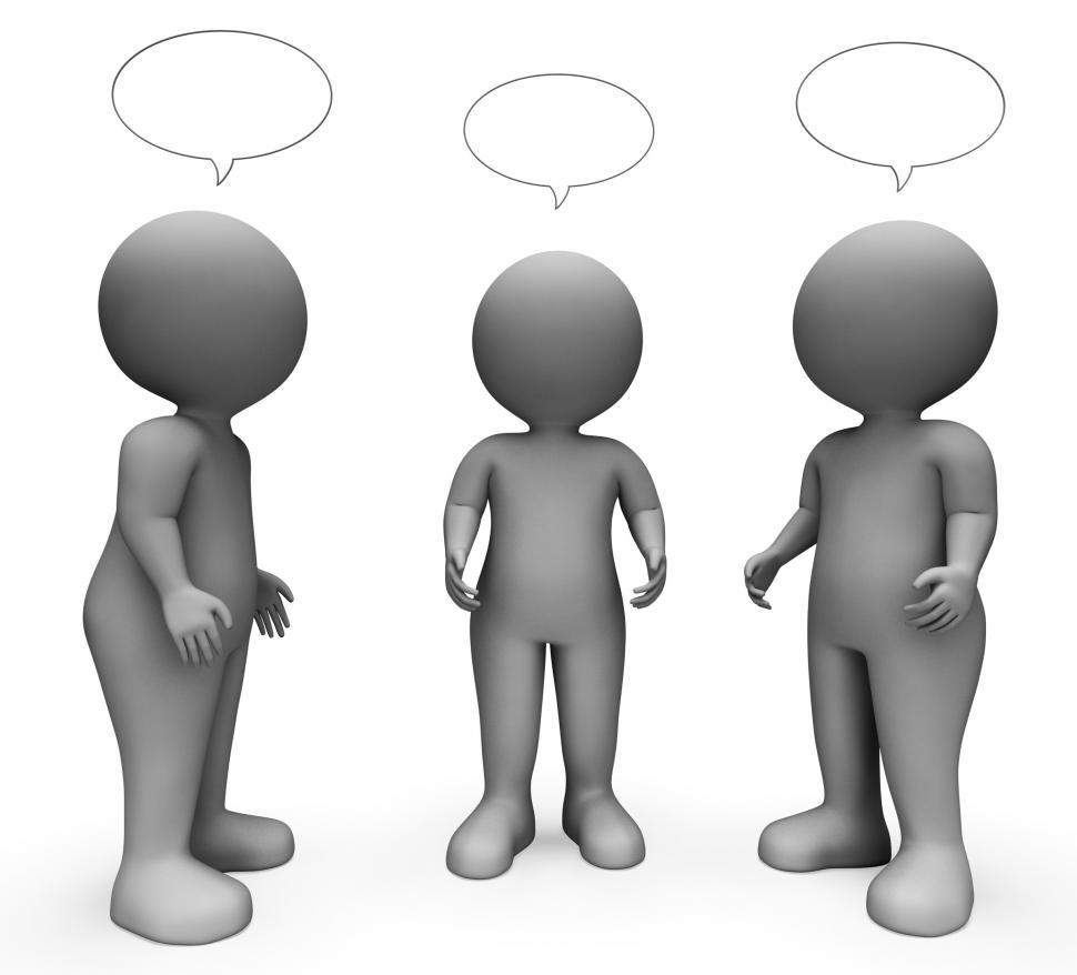 Download Free Stock HD Photo of Speech Bubble Indicates Copy Space And Characters 3d Rendering Online