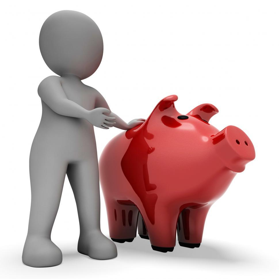 Download Free Stock HD Photo of Save Savings Indicates Piggy Bank And Wealth 3d Rendering Online
