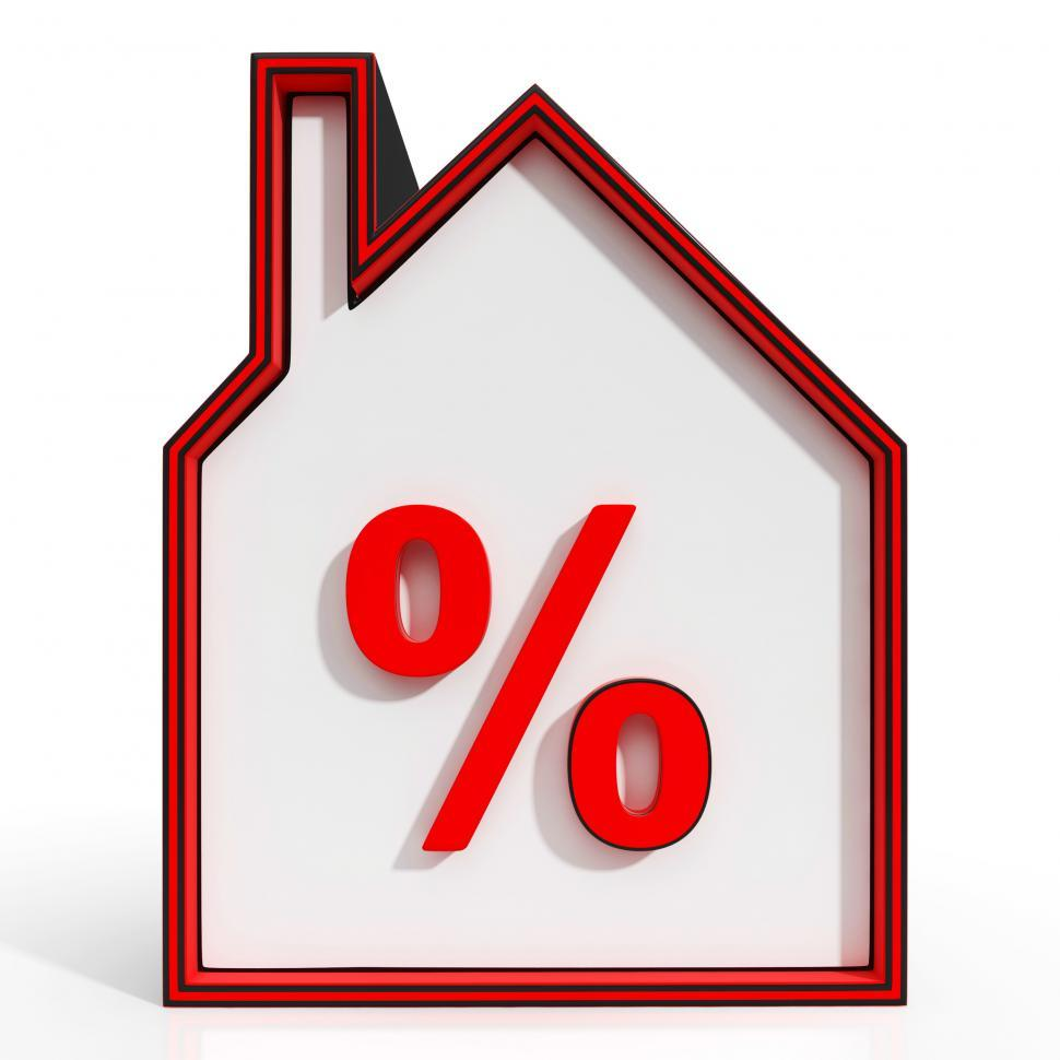 Download Free Stock HD Photo of House And Percent Sign Displaying Investment Or Discount Online