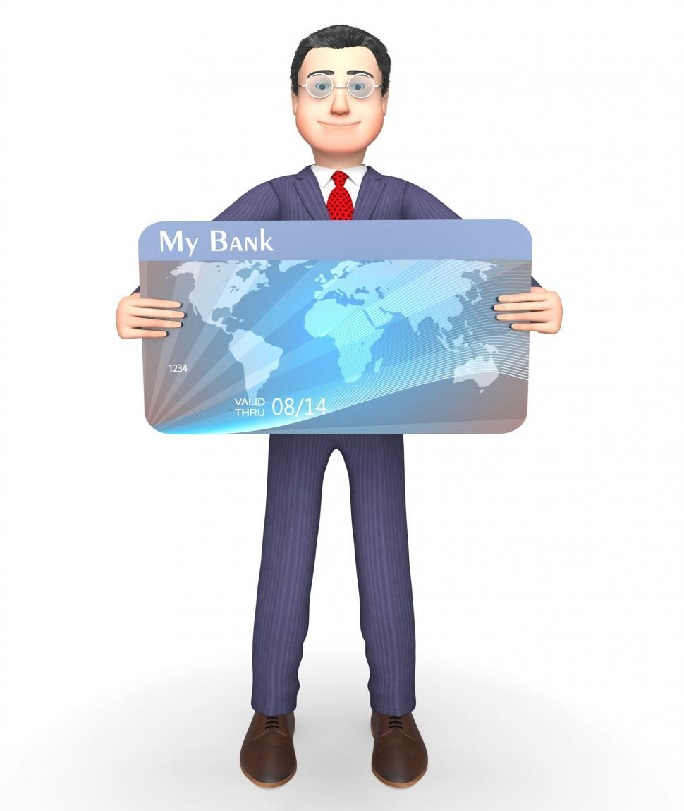 Download Free Stock HD Photo of Credit Card Indicates Business Person And Bought 3d Rendering Online