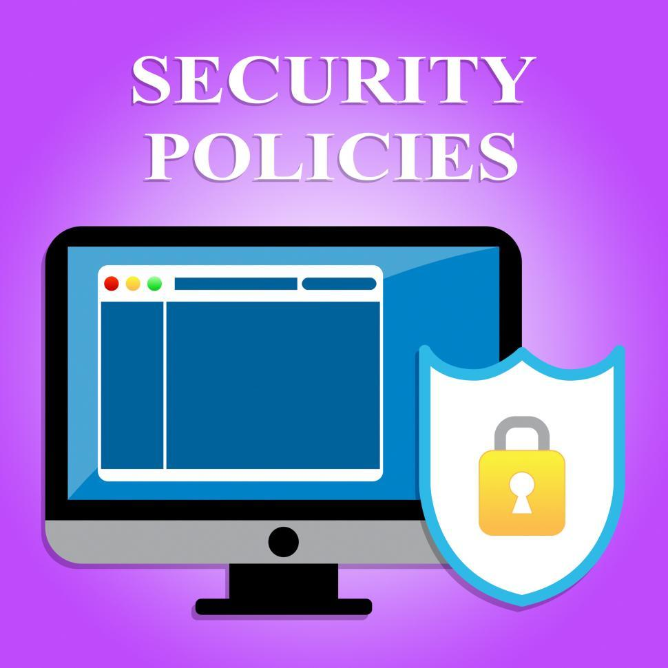 Download Free Stock HD Photo of Security Policies Shows Policy Protected And Protocol Online