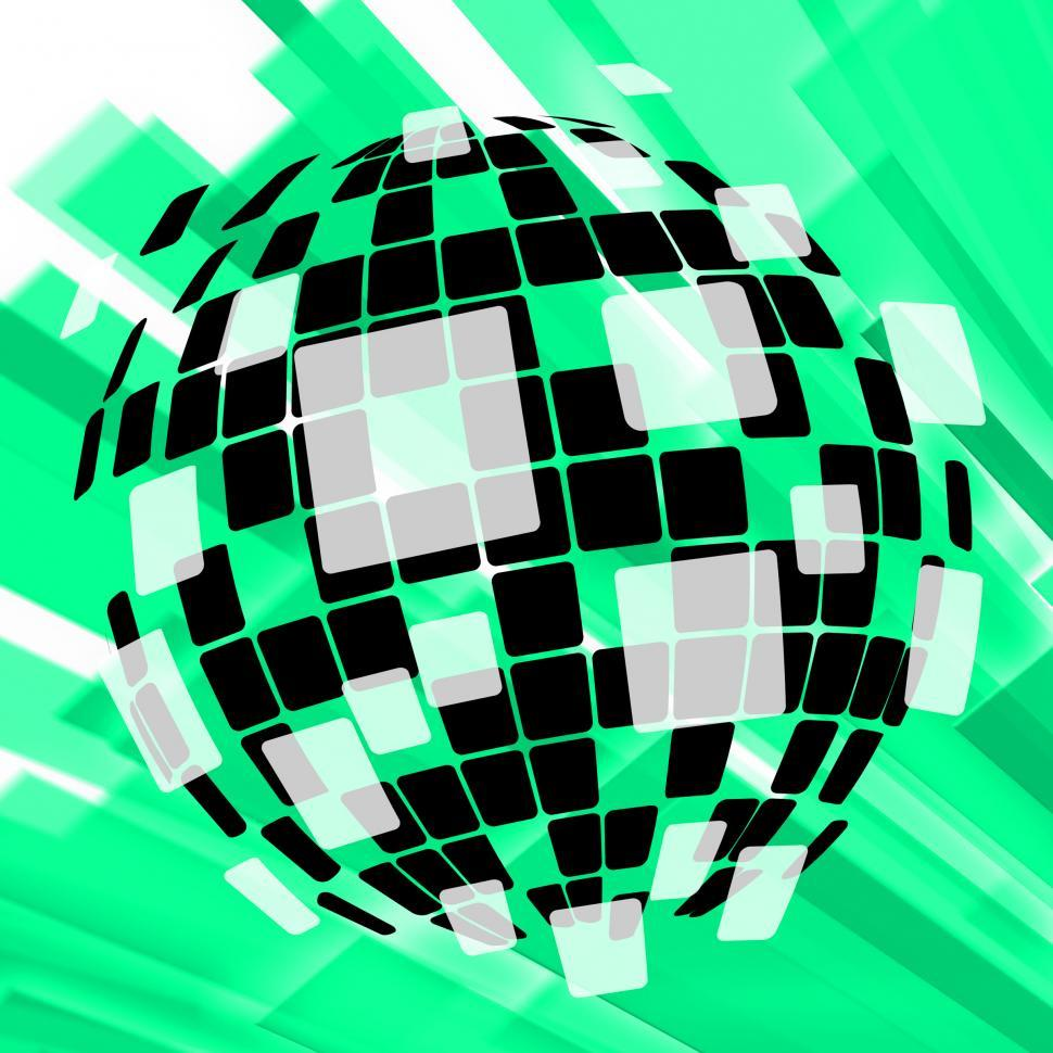 Download Free Stock HD Photo of Modern Disco Ball Background Shows Vintage Pop Art Or Design Online