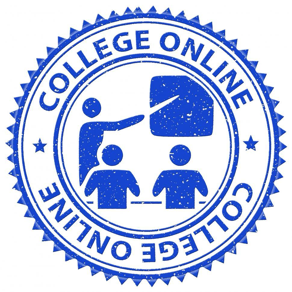 Download Free Stock HD Photo of College Online Shows Web Site And Colleges Online