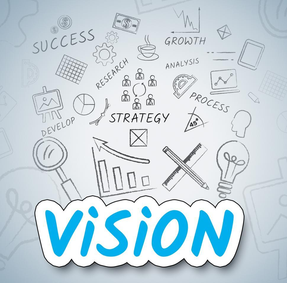 Download Free Stock HD Photo of Vision Ideas Indicates Target Considering And Reflect Online
